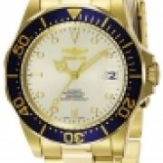 Invicta 9743 Pro Automatico Diver 3 Manos Champagne Dial Reloj IW-06