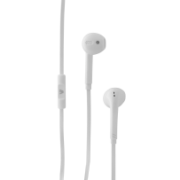 In-Ear Stereo Earbuds with In-line Microphone - handsfree, tangle free with flat cable design IM-04 HA130-WHT-21NC-1